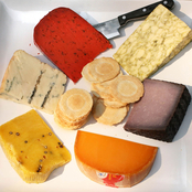 The Gourmet Market A Rainbow of Colorful Cheeses