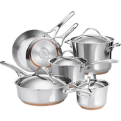 Anolon Nouvelle Copper Stainless Steel 10-Pc. Cookware Set