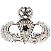 Army Badge, Regular Mirror Finish, Master Combat Parachutist 1st Award