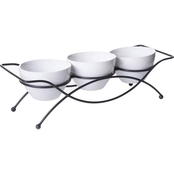 Gibson Elite Gracious Dining 4 pc. Serving Set with Metal Rack