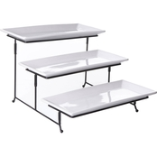 Gibson Elite Gracious Dining 3-Tier Rectangular Plate Set