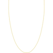 14K Gold 22 in. Adjustable Square Wheat Chain