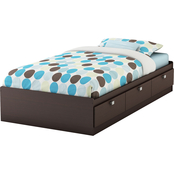 South Shore Cakao Twin Mates Bed
