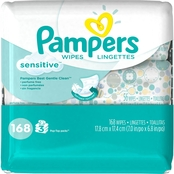 Pampers Sensitive Wipes 3x Travel Pack, 168 Count