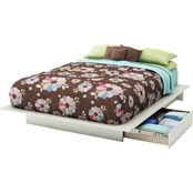South Shore Step One Full/Queen Platform Bed with Side Drawers