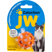 Petmate JW Pet Cataction Feather Ball Cat Toy