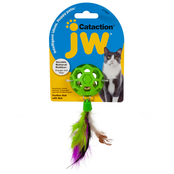 Petmate JW Pet Cataction Feather Ball with Bell Cat Toy