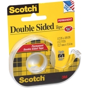 Scotch Permanent Double Sided Tape, 1/2 in. X 450 in.
