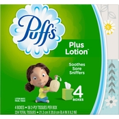 Puffs Plus Lotion Facial Tissues 4 Pk.