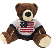 Bear Forces of America 11 in. Plush Bear in a Flag Sweater