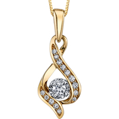 Sirena 14K Gold 1/7 CTW Diamond Twist Pendant