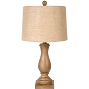 Simply Perfect Distressed Faux Wood Table Lamp