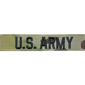 Embroidered Army OCP Branch of Service Tape with Velcro