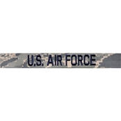 Embroidered Air Force ABU Branch Tape with Hook Velcro