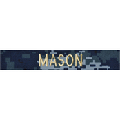 Embroidered Navy NWU Officer Nametape - Gold