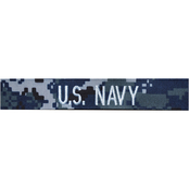 Embroidered Navy NWU Enlisted Branch Tape - Silver