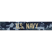Embroidered Navy NWU Officer Branch Tape - Gold