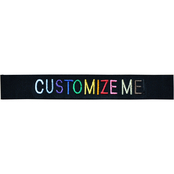 Customized Embroidered Black Web Nametape