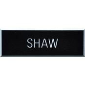 Army Rough Black Plastic Engraved Nametag