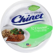 Chinet Classic White Dinner Plate 32 Ct.