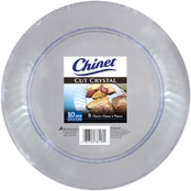 Chinet 10 in. Cut Crystal Clear Plates 8 Ct.