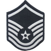 Air Force Master Sergeant (MSgt) Blue Chevron Small Rank