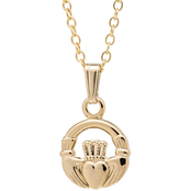 Kids 14K Yellow Gold Filled Claddagh Pendant