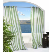 Commonwealth Escape Stripe Grommet Top Outdoor Curtain Panel