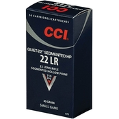 CCI Quiet Segmented .22 LR 40 Gr. Segmented Hollow Point, 50 Rounds