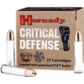 Hornady Critical Defense .30 Carbine 110 Gr. Flex Tip Hollow Point, 25 Rounds