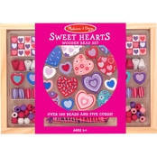 Melissa & Doug Wooden Sweet Hearts Bead Set