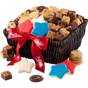 Mrs. Fields Red, White and Blue Deluxe Basket