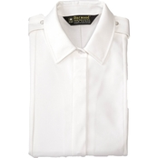 Army Women's White Placket Short Sleeve Blouse (ASU)