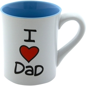Our Name is Mud I Heart Dad Mug