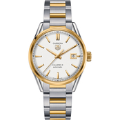 TAG Heuer Men's CARRERA Calibre 5 Steel and Yellow Gold Automatic Watch