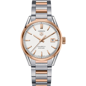 TAG Heuer Men's CARRERA Calibre 5 Steel and Rose Gold Automatic Watch