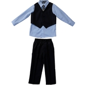 Andrew Fezza Little Boys/Boys Striped Vest 4 pc. Set