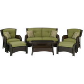 Hanover Strathmere 6 pc. Wicker Patio Set