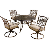 Hanover Traditions 5 pc. Outdoor Dining Set with Rocker Swivel Chairs