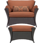 Hanover Strathmere Allure 2 pc. Chair and Ottoman Set