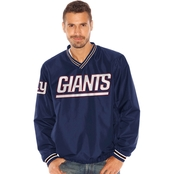 G-III Sports NFL New York Giants Team Men's Stop and Go V Neck Pullover