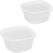 CorningWare French White III Square Ramekin 2 Pk.