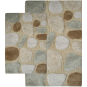 Chesapeake Pebbles 2Pc. Khaki Bath Rug Set 26650 (21
