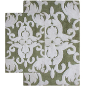 Chesapeake Merchandising Iron Gate 2 pc.  Scroll Bath Rug Set