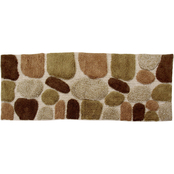 Chesapeake Pebbles Khaki Bath Rug Runner 45090 (24