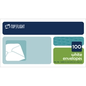Top Flight No. 6-3/4 Plain White Boxed Envelope 100 pk.