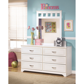 Ashley Lulu Dresser and Mirror Set