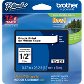 Brother TZe131 Black on White Tape Label Printer Cartridge