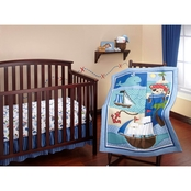 Little Bedding by NoJo Baby Buccaneer 3 pc. Crib Set