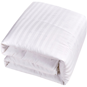 Blue Ridge 350 Thread Count Damask Cover, White Goose Down and Feather Comforter